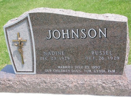 JOHNSON, RUSSEL - Dodge County, Nebraska | RUSSEL JOHNSON - Nebraska Gravestone Photos