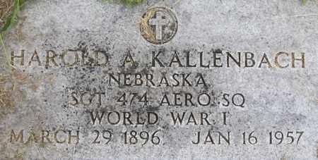 KALLENBACH, HAROLD - Dodge County, Nebraska   HAROLD KALLENBACH - Nebraska Gravestone Photos