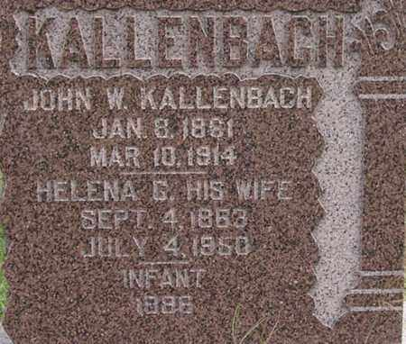 KALLENBACH, HELENA - Dodge County, Nebraska | HELENA KALLENBACH - Nebraska Gravestone Photos