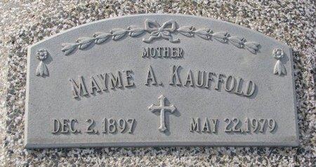 PARR KAUFFOLD, MAYME ANGELA - Dodge County, Nebraska | MAYME ANGELA PARR KAUFFOLD - Nebraska Gravestone Photos