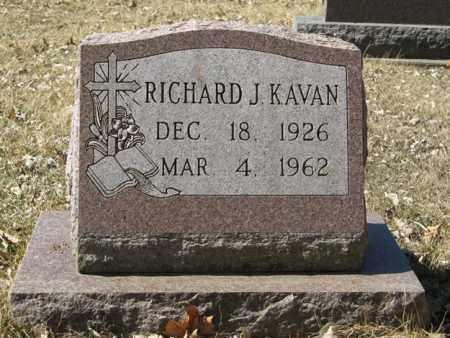 KAVAN, RICHARD J. - Dodge County, Nebraska | RICHARD J. KAVAN - Nebraska Gravestone Photos