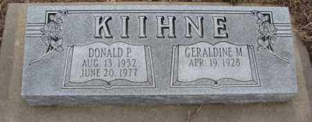 KIIHNE, DONALD P. - Dodge County, Nebraska | DONALD P. KIIHNE - Nebraska Gravestone Photos