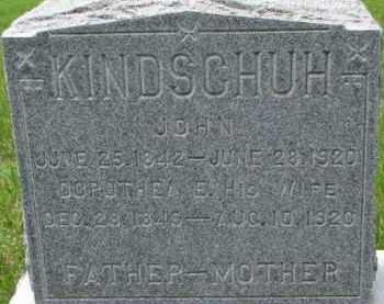 KINDSCHUH, JOHN - Dodge County, Nebraska | JOHN KINDSCHUH - Nebraska Gravestone Photos