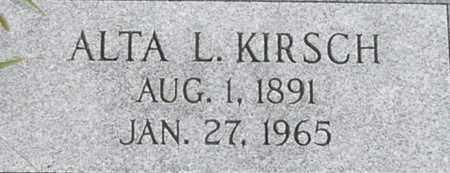 KIRSCH, ALTA - Dodge County, Nebraska | ALTA KIRSCH - Nebraska Gravestone Photos