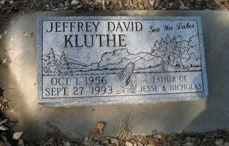 KLUTHE, JEFFREY DAVID - Dodge County, Nebraska | JEFFREY DAVID KLUTHE - Nebraska Gravestone Photos