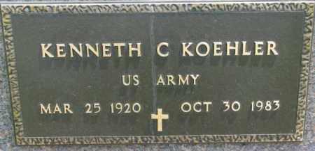 KOEHLER, KENNETH C. (MILITARY MARKER) - Dodge County, Nebraska | KENNETH C. (MILITARY MARKER) KOEHLER - Nebraska Gravestone Photos