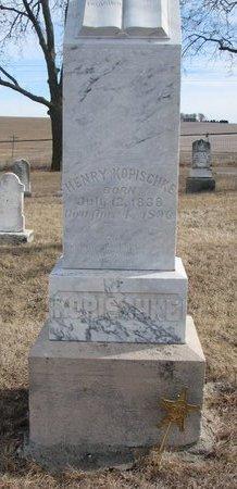 KOPISCHKE, HENRY - Dodge County, Nebraska   HENRY KOPISCHKE - Nebraska Gravestone Photos