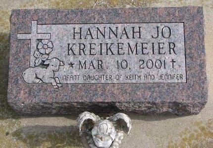 KREIKEMEIER, HANNAH JO - Dodge County, Nebraska | HANNAH JO KREIKEMEIER - Nebraska Gravestone Photos