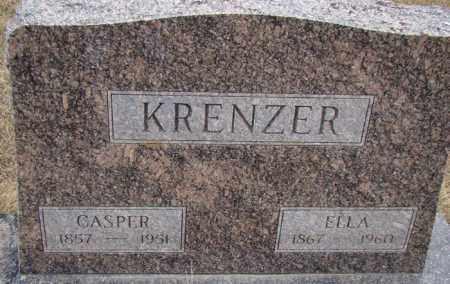 KRENZER, CASPER - Dodge County, Nebraska | CASPER KRENZER - Nebraska Gravestone Photos