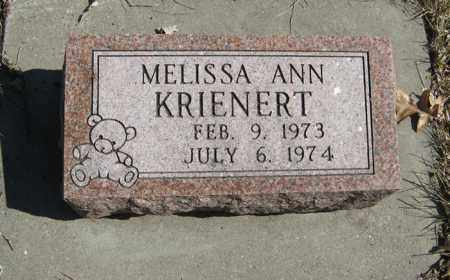 KRIENERT, MELISSA ANN - Dodge County, Nebraska | MELISSA ANN KRIENERT - Nebraska Gravestone Photos