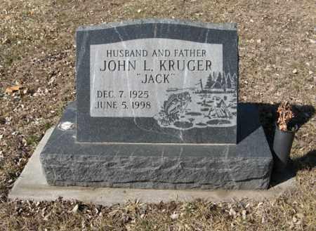 "KRUGER, JOHN L. ""JACK"" - Dodge County, Nebraska   JOHN L. ""JACK"" KRUGER - Nebraska Gravestone Photos"