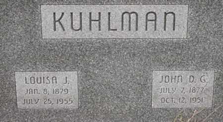 MUNDERLOH KUHLMAN, LOUISA - Dodge County, Nebraska | LOUISA MUNDERLOH KUHLMAN - Nebraska Gravestone Photos