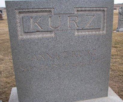MUCHOW KURZ, ANNA E. - Dodge County, Nebraska | ANNA E. MUCHOW KURZ - Nebraska Gravestone Photos