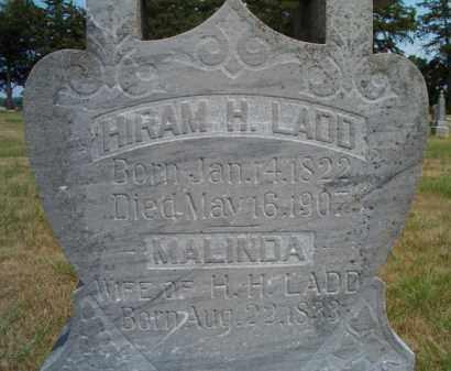 LADD, MALINDA (CLOSE-UP) - Dodge County, Nebraska   MALINDA (CLOSE-UP) LADD - Nebraska Gravestone Photos