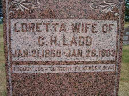 LADD, LORETTA (CLOSE-UP) - Dodge County, Nebraska | LORETTA (CLOSE-UP) LADD - Nebraska Gravestone Photos