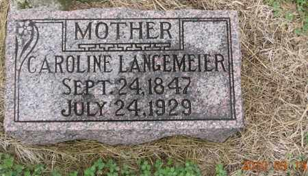 DIPPER LANGEMEIER, CAROLINE - Dodge County, Nebraska | CAROLINE DIPPER LANGEMEIER - Nebraska Gravestone Photos