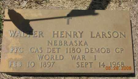 LARSON, WALTER HENRY - Dodge County, Nebraska | WALTER HENRY LARSON - Nebraska Gravestone Photos