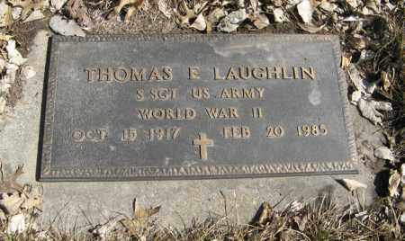 LAUGHLIN, THOMAS E. - Dodge County, Nebraska | THOMAS E. LAUGHLIN - Nebraska Gravestone Photos