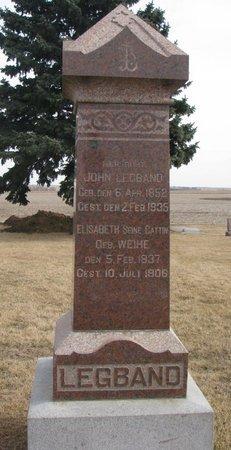 WEIHE LEGBAND, ELISABETH - Dodge County, Nebraska | ELISABETH WEIHE LEGBAND - Nebraska Gravestone Photos