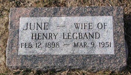 LEGBAND, JUNE - Dodge County, Nebraska | JUNE LEGBAND - Nebraska Gravestone Photos