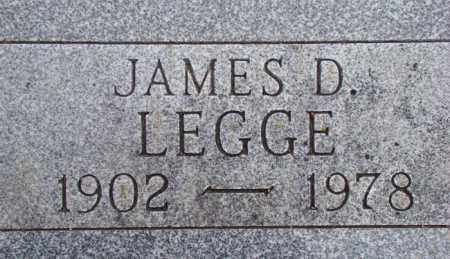 LEGGE, JAMES DONALD - Dodge County, Nebraska | JAMES DONALD LEGGE - Nebraska Gravestone Photos
