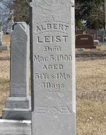 LEIST, ALBERT (CLOSE UP) - Dodge County, Nebraska | ALBERT (CLOSE UP) LEIST - Nebraska Gravestone Photos