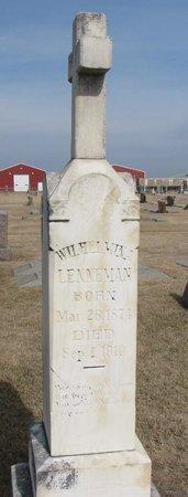LENNEMAN, WILHELMINA - Dodge County, Nebraska | WILHELMINA LENNEMAN - Nebraska Gravestone Photos