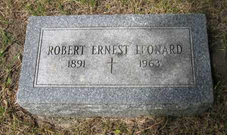 LEONARD, ROBERT ERNEST - Dodge County, Nebraska | ROBERT ERNEST LEONARD - Nebraska Gravestone Photos