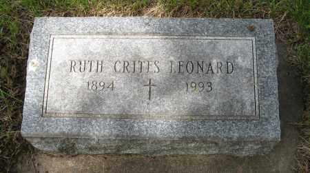 CRITES LEONARD, RUTH - Dodge County, Nebraska | RUTH CRITES LEONARD - Nebraska Gravestone Photos