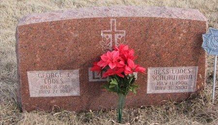 SCHLAUTMAN LODES, BESS - Dodge County, Nebraska | BESS SCHLAUTMAN LODES - Nebraska Gravestone Photos