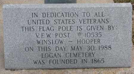 *LOGAN CEMETERY, VFW MONUMENT - Dodge County, Nebraska | VFW MONUMENT *LOGAN CEMETERY - Nebraska Gravestone Photos