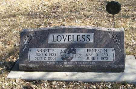 LOVELESS, ANNETTE - Dodge County, Nebraska | ANNETTE LOVELESS - Nebraska Gravestone Photos