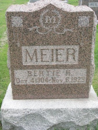 MEIER, BERTIE H. - Dodge County, Nebraska | BERTIE H. MEIER - Nebraska Gravestone Photos