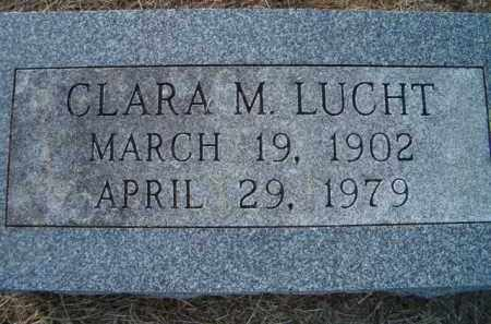LUCHT, CLARA M - Dodge County, Nebraska   CLARA M LUCHT - Nebraska Gravestone Photos