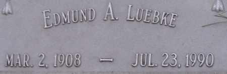LUEBKE, EDMUND A - Dodge County, Nebraska | EDMUND A LUEBKE - Nebraska Gravestone Photos