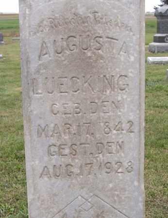 DEGNER LUECKING, AUGUSTA - Dodge County, Nebraska | AUGUSTA DEGNER LUECKING - Nebraska Gravestone Photos