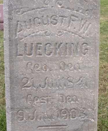 LUECKING, AUGUST F W - Dodge County, Nebraska   AUGUST F W LUECKING - Nebraska Gravestone Photos