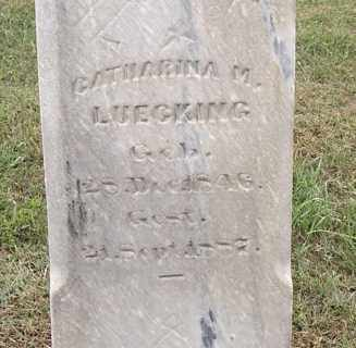 LUECKING, CATHARINA M - Dodge County, Nebraska | CATHARINA M LUECKING - Nebraska Gravestone Photos