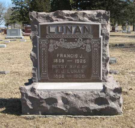 LUNAN, FRANCIS J. - Dodge County, Nebraska | FRANCIS J. LUNAN - Nebraska Gravestone Photos