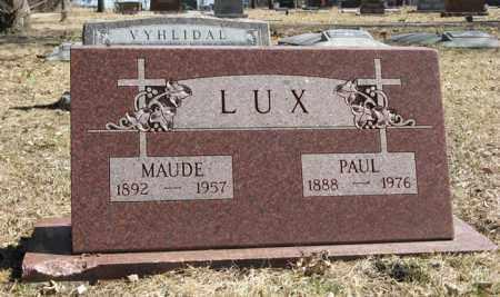 LUX, PAUL - Dodge County, Nebraska   PAUL LUX - Nebraska Gravestone Photos