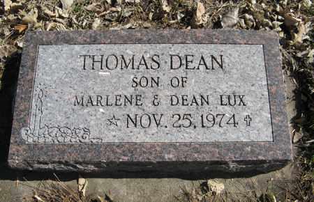 LUX, THOMAS DEAN - Dodge County, Nebraska | THOMAS DEAN LUX - Nebraska Gravestone Photos