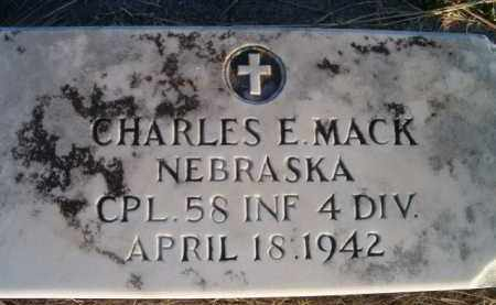 MACK, CHARLES E (MILITARY MARKER) - Dodge County, Nebraska | CHARLES E (MILITARY MARKER) MACK - Nebraska Gravestone Photos