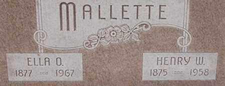 WAGNER MALLETTE, ELLA - Dodge County, Nebraska | ELLA WAGNER MALLETTE - Nebraska Gravestone Photos