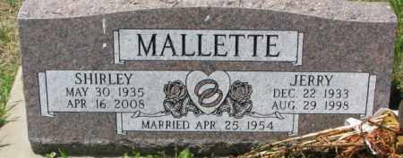 MALLETTE, JERRY - Dodge County, Nebraska | JERRY MALLETTE - Nebraska Gravestone Photos