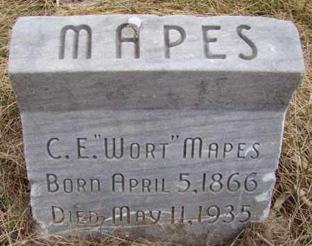 "MAPES, C.E. ""WORT"" - Dodge County, Nebraska | C.E. ""WORT"" MAPES - Nebraska Gravestone Photos"