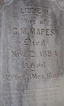 MAPES, LIZZIE H. - Dodge County, Nebraska | LIZZIE H. MAPES - Nebraska Gravestone Photos