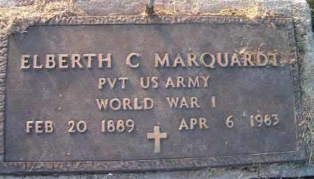 MARQUARDT, ELBERTH C (MILITARY MARKER) - Dodge County, Nebraska   ELBERTH C (MILITARY MARKER) MARQUARDT - Nebraska Gravestone Photos