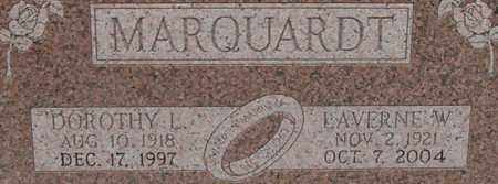 MARQUARDT, LAVERNE - Dodge County, Nebraska | LAVERNE MARQUARDT - Nebraska Gravestone Photos