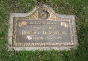 MARTENS, DORTHEY D. - Dodge County, Nebraska   DORTHEY D. MARTENS - Nebraska Gravestone Photos
