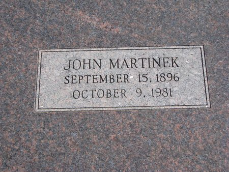 MARTINEK, JOHN - Dodge County, Nebraska   JOHN MARTINEK - Nebraska Gravestone Photos